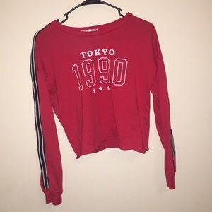 Tokyo long sleeved crop top